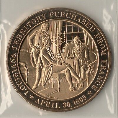 *1803 The Louisiana Purchase. Franklin Mint Bronze Medal.