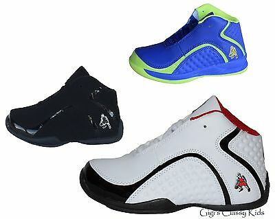 New Boys Girls High Top Sneakers Tennis Shoes Basketball Youth Kids Athletic