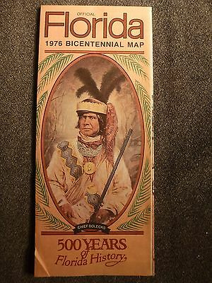 State Of Florida Official Bicentennial Highway Road Map 1976 Vintage Travel