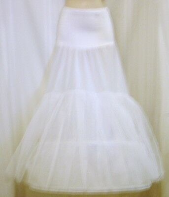 Crinoline Petticoat Slip 2 Hoop 3 Tier Sz 2 3 Poly Bridal Prom Formal Worn 6 hrs