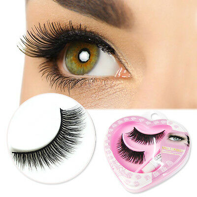 5 Pairs Cross False Eyelashes Makeup Soft Long Thick Eye Lashes Nautral Handmade