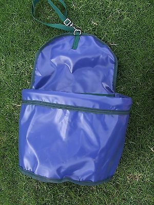 Ecotak PVC Portable Feed Bag - Royal blue with bottle green trim