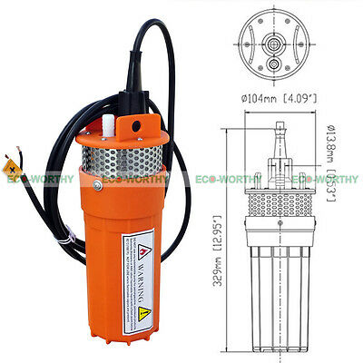 12V Submersible Deep DC Solar Well Water Pump for Watering Irrigation Outdoor AU