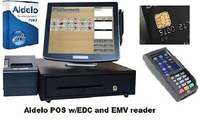 Aldelo Pro Resturant POS Point of Sale System W/ EMV chip card & Kitchen Printer