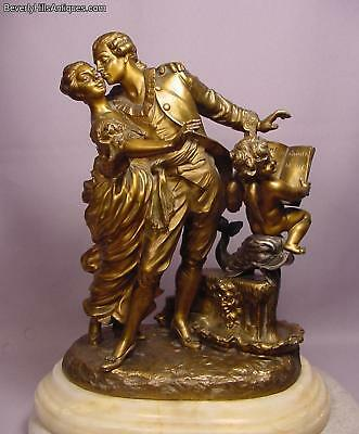 Ultimate Rare Romantic French Antique Polychrome Bronze Sculpture La Monaca