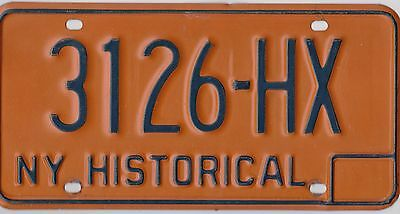 🏁🌟🎼  AUTHENTIC USA 1980's NEW YORK HISTORICAL LICENSE PLATE. 🏁🌟🎼