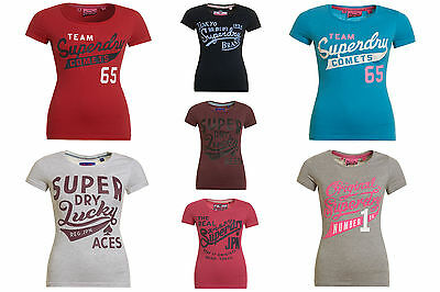New Womens Superdry T-Shirts Selection; Various Styles & Colours