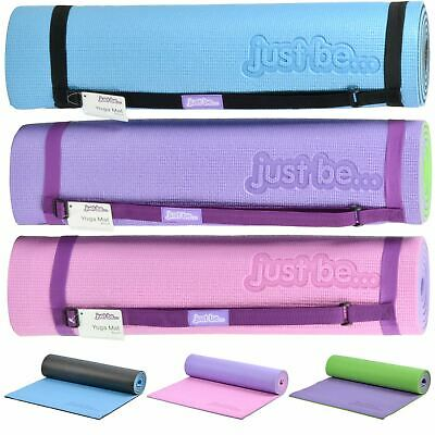 just be® 10mm Non-Slip Foam Thick Yoga Pilates Exercise Fitness Mat Carry Strap