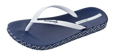 889b7e6544b29b Ipanema Impresso Womens Flip Flops Beach Pool Sandals Navy White - 81890Q
