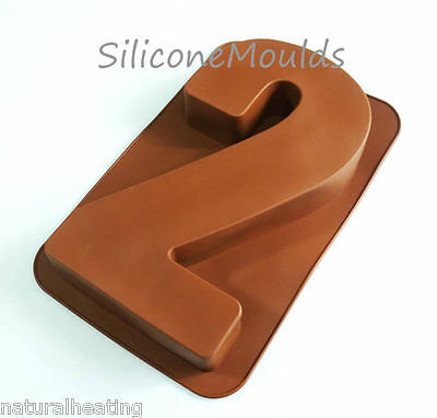 Large Number Two 2 Silicone Birthday Cake Mould Bakeware Pan Tin Baking Mold