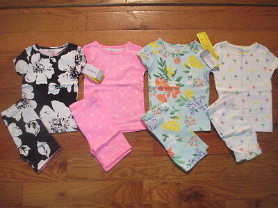 8 piece LOT of Baby Girl Spring/Summer pajamas size 18 months NWT