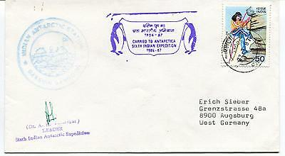 1986 Indian Antarctic Station Fifth Expedition Polar Antarctic Cover SIGNED