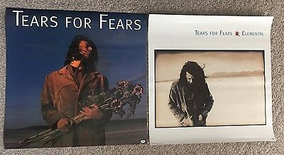 """Tears for Fears Poster 2-Sided Promo 24""""X24"""" 1993 Elemental Mint Condition RARE"""
