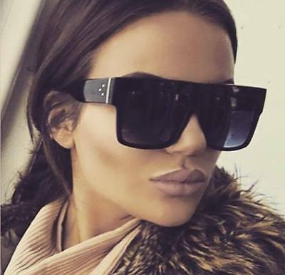 Black Shield Sunglasses Oversize Kim Kylie ** Free Case ** Most Wanted ** !!  C