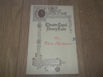 """Theatre Royal Drury Lane """" The Three Musketeers """" Programme 1920's"""