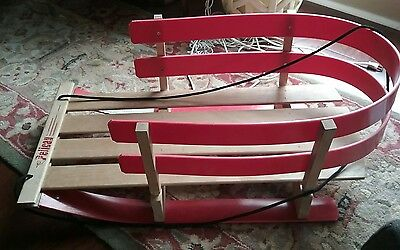 Rare Baby/Toddler Sled Snow Pelican Sled Canada Made Solid Bent Wood