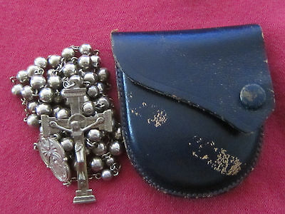 Antique Catholic Religious Medal - Solid Sterling Rosaries / Rosary Beads LOVELY
