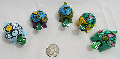 Lot of 5 Assorted Extra Large Bobble Head Turtles in Various Colors