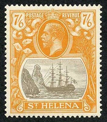 St Helena KGV 7/6 Grey-Brown and Yellow Orange (DEEP SHADE) Superb U/M