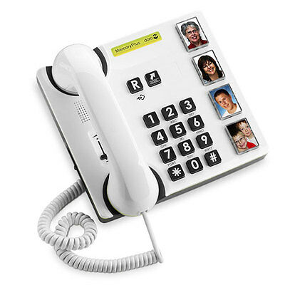 NEW GENUINE DORO 319i MEMORYPLUS CORDED HEARING AID COMPATIBLE TELEPHONE - WHITE