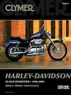 Sportster Di Harley Davidson 883 1200 1986-2003 Clymer Manuale M4295 NUOVO