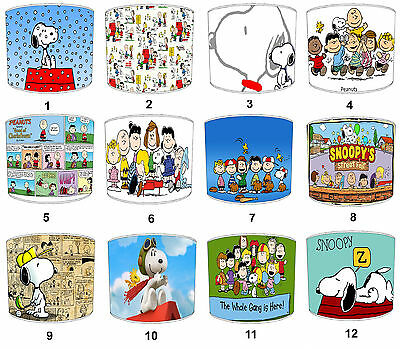 Lampshades Ideal To Match Peanuts & Snoopy Wall Decals & Peanuts Snoopy Duvets