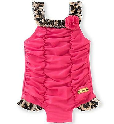 Juicy Couture Toddler Girls Hot Pink 1pc Swimsuit Size 2T 3T 4T $50