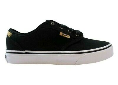 VANS ATWOOD DELUXE GIRLS/BOYS LACE-UP 10oz CANVAS BLACK/BLANKET TRAINER SHOE