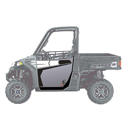 DragonFire ReadyForce Door Graphics Polaris Ranger XP 900 16-17 Titanium Matte
