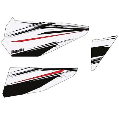 DragonFire Door Graphics Polaris RZR XP 4 1000 2014-2015 White Lightning