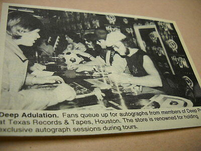 DEEP PURPLE at Texas Records & Tapes in Houston vintage music biz image w/ text