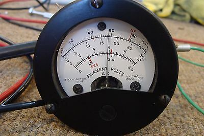 TV-2 Vacuum Tube Tester Filament Volts Meter ~ Tested & Very Good