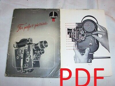 Instructions Cine CAMERA PILLARD BOLEX model H