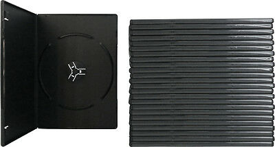 (25) DVBR07BKPR Super Thin Slim Empty Black PREMIUM DVD Cases Boxes 7mm NEW