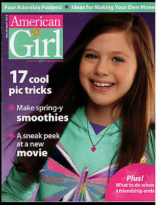 American Girl Magazine March April 2014 VERY NICE EX Smoothies Movies Pic Tricks