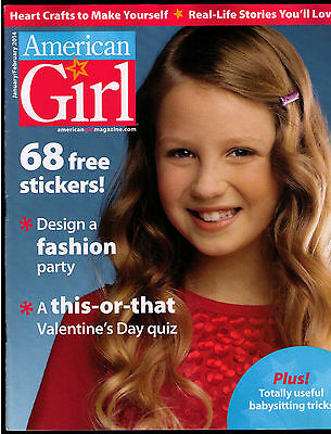 American Girl Magazine January February 2014 VERY NICE EX STICKERS Fashion Party
