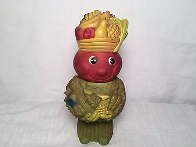 1960's Kraft Salad Vegetable Man Vinyl Advertising Figure Bank