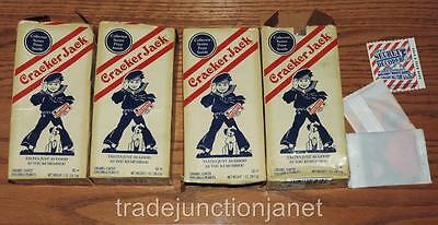 (4) 2004 LE CRACKER JACK COLLECTOR SERIES OPENED EMPTY BOXES w/3 TOY PRIZES