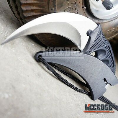 SILVER TACTICAL COMBAT KARAMBIT KNIFE Survival Hunting BOWIE Military Blade CSGO