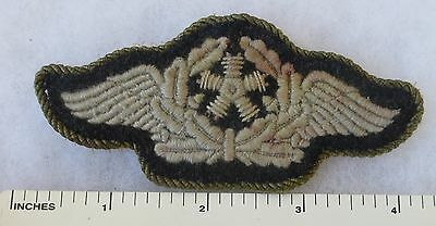 Used ORIGINAL WW2 GERMAN LUFTWAFFE SENIOR AIRCRAFT TECHNICIAN WINGS PATCH
