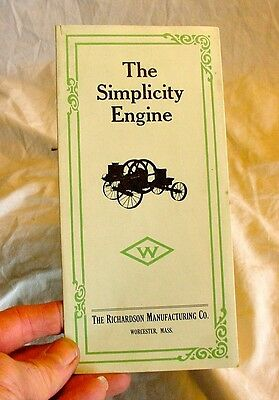 Original Simplicity Hit Miss Gas Engine Sales Brochure Catalog Catalogue