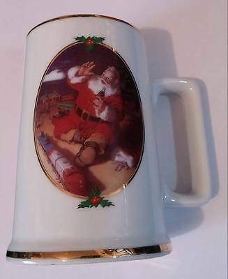 "1996 Collector's Edition Coca Cola Santa Mug ""Season's Greetings"""