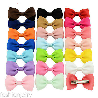 2.7inch 20pcs/lot Pairs Girls Baby Kids Hair Bow Boutique Hair Accessories Clips