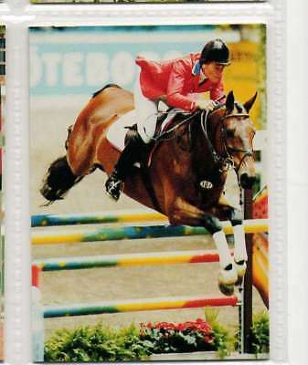 #117 Lisa Jacquin USA Jumping equestrian collector card