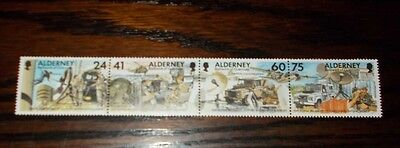 Alderney Mint Stamps 25Th Anniversary Of The Adoption Of  30Th Signal Regiment