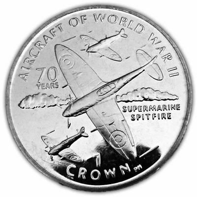 Isle of Man 2006 Aircraft of WWII - Supermarine Spitfire Unc. CuNi Coin