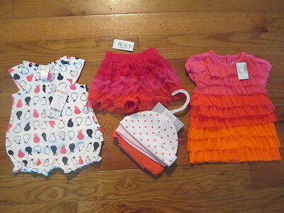 4 piece LOT of Baby Girl Spring/Summer clothes size 0-3 months NWT