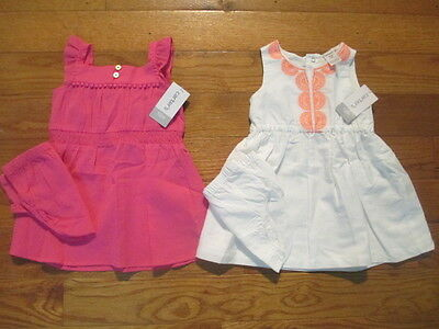 2 piece LOT of Baby Girl Spring/Summer clothes size 12 months NWT