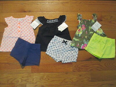 6 piece LOT of Baby Girl Spring/Summer clothes size 3 months NWT