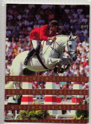 #13 Greg Best USA equestrian collector card